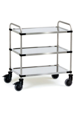 Chariot roll inox 3 plateaux